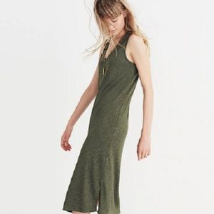 Madewell V-Neck Jersey Green Midi Tank Dress M
